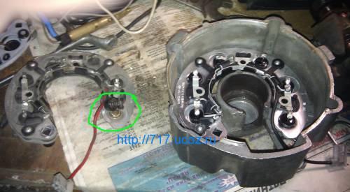 "Ремонт автоклассики,семерка,четверка - Ремонт генератора ""семерки"" ВАЗ 21074 замена диодного моста"